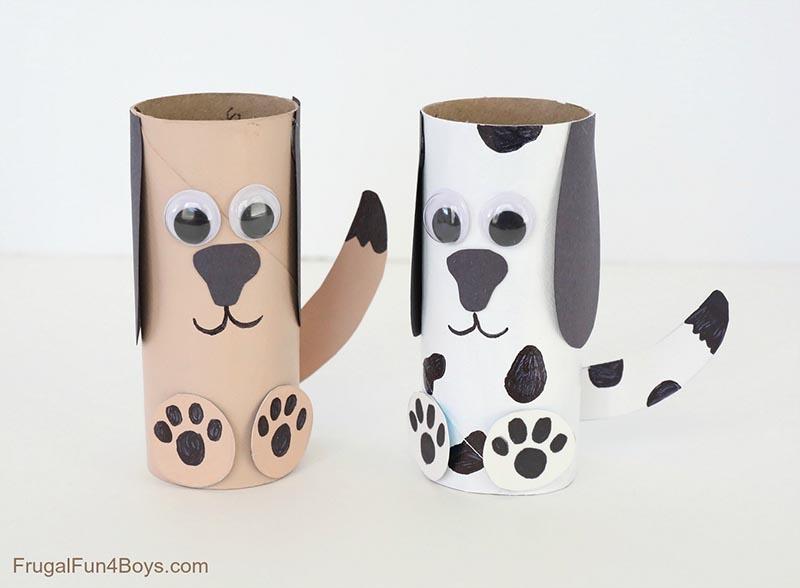 activité rouleau papier toilette chien