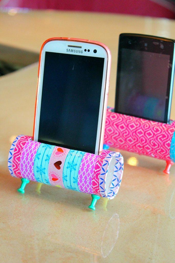 porte-telephone avec rouleau de papier toilette