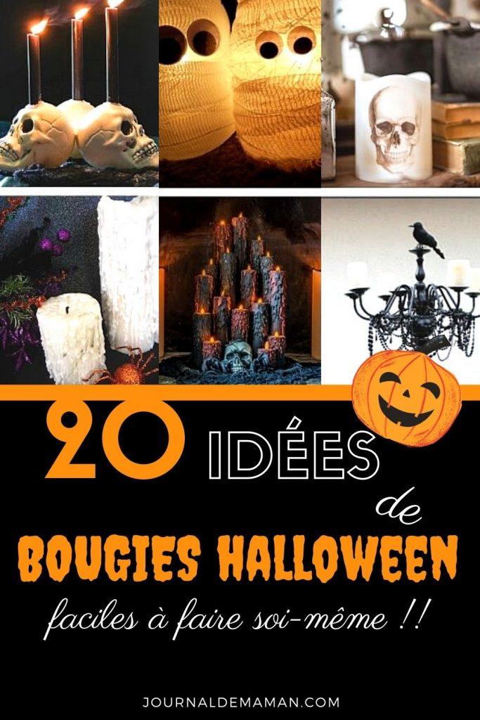 bougies pour décoration d'halloween