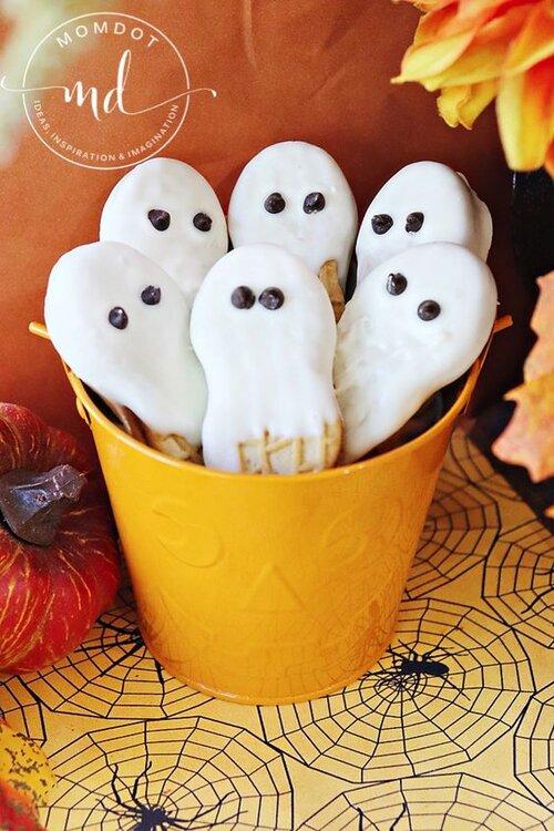 Biscuits Fantômes au Beurre de Noix pour Halloween