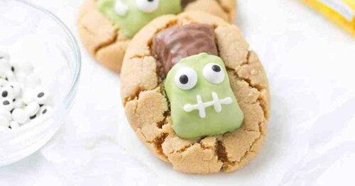 Cookies Frankenstein pour Halloween