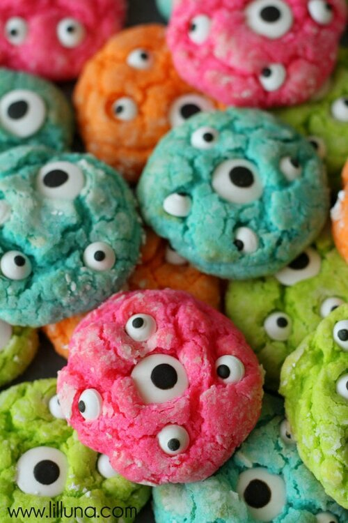 Cookies Halloween aux Yeux de Monstre